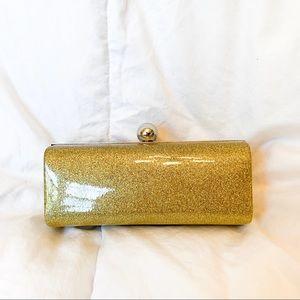 Bijoux Terner Gold Sparkle Crossbody Clutch Purse